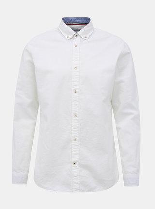 Biela košeľa s prímesou ľanu Jack & Jones Summer