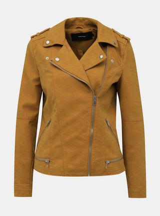Hnedá koženková bunda VERO MODA World