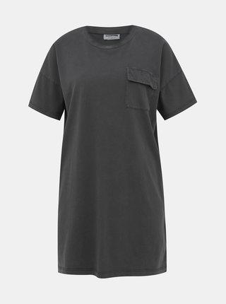Tmavě šedé dlouhé tričko Noisy May Acid