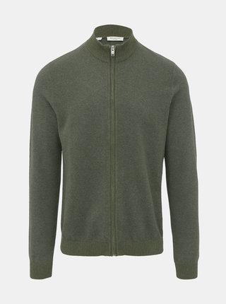 Kaki sveter na zips Selected Homme Fernando