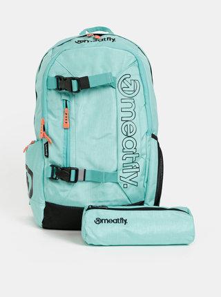 Světle modrý batoh s penálem 2v1 Meatfly 20 l