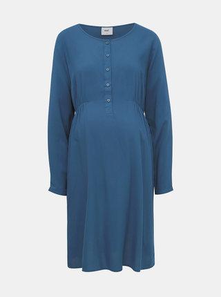 Tmavomodré tehotenské šaty Mama.licious Alda