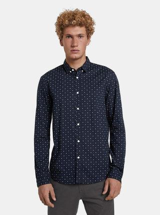 Tmavě modrá pánská vzorovaná košile Tom Tailor Denim