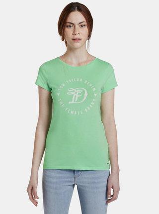 Světle zelené dámské tričko s potiskem Tom Tailor Denim