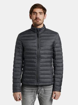 Čierna pánska prešívaná vodeodpudivá bunda Tom Tailor
