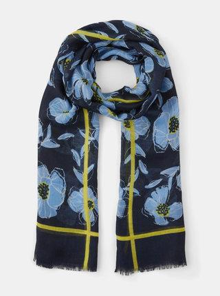 Tmavomodrá kvetovaná šatka Tom Tailor