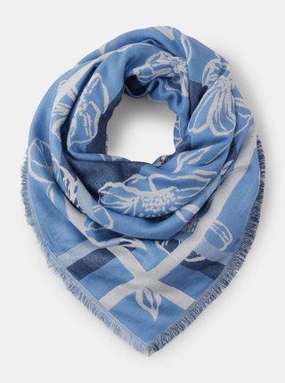 Modrý květovaný šátek Tom Tailor