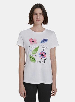Bílé dámské tričko s potiskem Tom Tailor