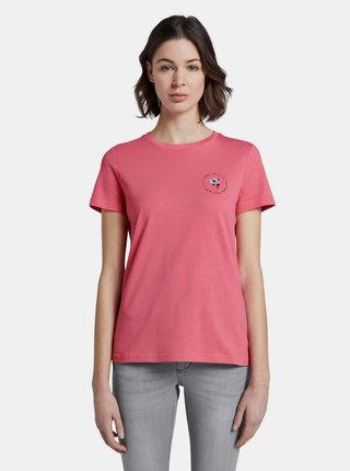 Růžové dámské tričko s potiskem Tom Tailor