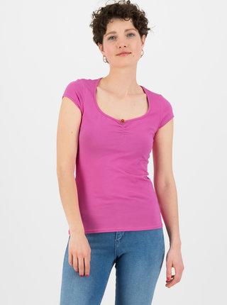 Růžové tričko Blutsgeschwister Feminine Simply