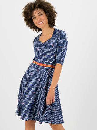 Modré vzorované šaty Blutsgeschwister Over The Ocean