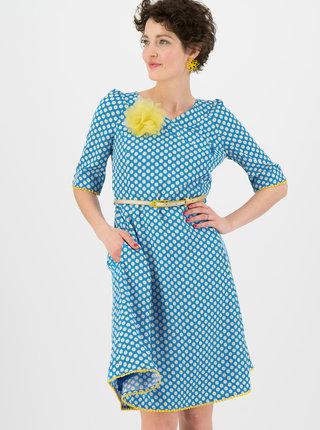 Modré květované šaty Blutsgeschwister Daisy