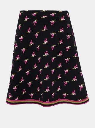 Černá vzorovaná sukně Blutsgeschwister Toucan