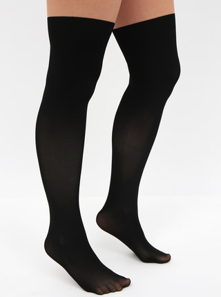 Telovo-čierne pančochové nohavice TALLY WEiJL Efecto