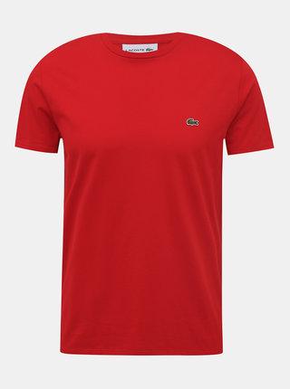 Červené pánské basic tričko Lacoste