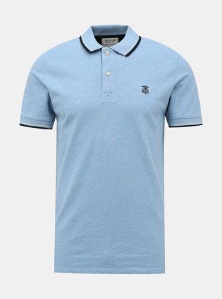 Světle modré polo tričko Selected Homme New Season