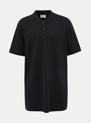 Černé basic polo tričko Selected Homme Haro