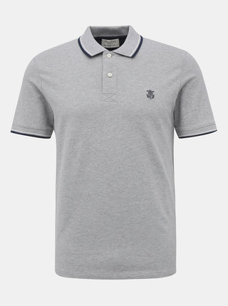 Světle šedé polo tričko Selected Homme New Season