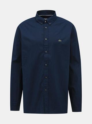 Tmavě modrá pánská slim fit košile Lacoste