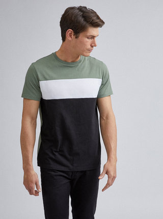 Černo-zelené tričko Burton Menswear London