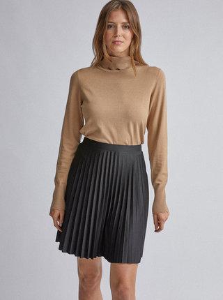 Čierna plisovaná sukňa Dorothy Perkins