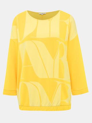 Žlté dámske tričko s potlačou Tom Tailor