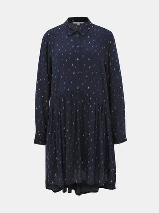 Tmavomodré košeľové šaty Tom Tailor Denim