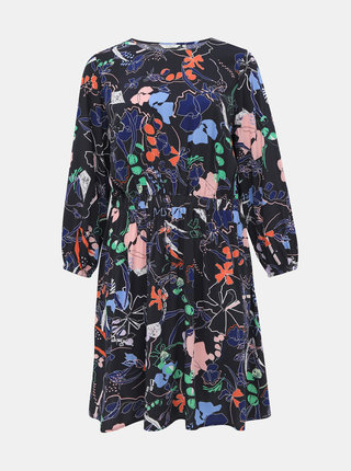 Tmavě modré květované šaty My True Me Tom Tailor