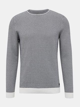 Modro-biely pánsky basic sveter Tom Tailor Denim