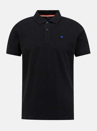 Černé pánské basic polo tričko Tom Tailor