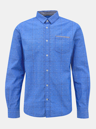 Modrá pánska vzorovaná regular fit košeľa Tom Tailor