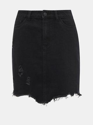 Černá džínová sukně Noisy May Mila
