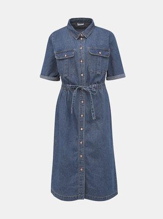 Modré džínové košilové šaty Noisy May Ezgi