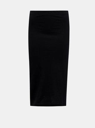 Černá pouzdrová basic midi sukně Noisy May Anja