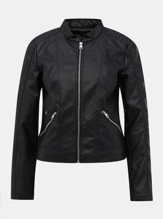 Černá koženková bunda VERO MODA Khloe