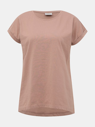 Rúžové basic tričko Jacqueline de Yong Louisa