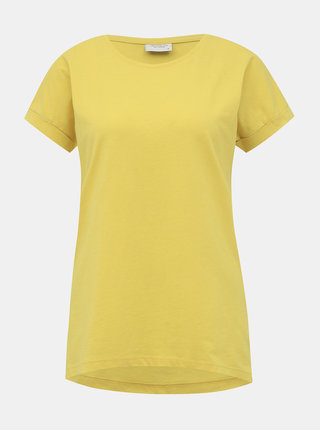 Žlté basic tričko Jacqueline de Yong Louisa