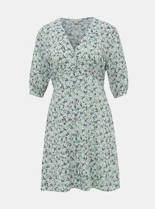 Světle zelené květované šaty Miss Selfridge