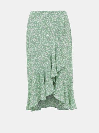 Svetlozelená kvetovaná sukňa Miss Selfridge