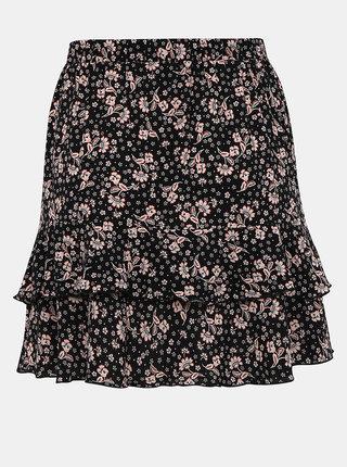 Čierna kvetovaná sukňa Miss Selfridge