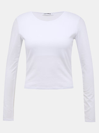 Biely basic crop top TALLY WEiJL