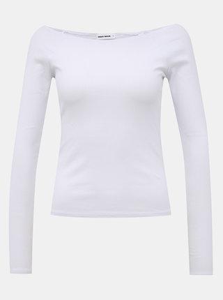 Biele rebrované basic tričko TALLY WEiJL