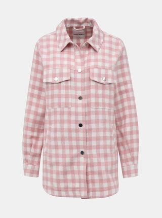 Růžová kostkovaná košile TALLY WEiJL