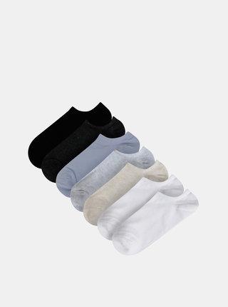 Sada sedmi párů nízkých ponožek v bílé, modré a černé barvě TALLY WEiJL Blues