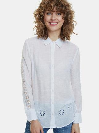 Biela košeľa s krajkou Desigual Lecce