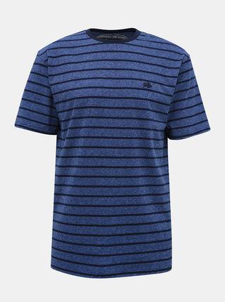 Tmavě modré pruhované tričko s výšivkou Raging Bull