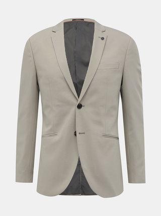 Béžové oblekové slim fit sako Jack & Jones Vincent