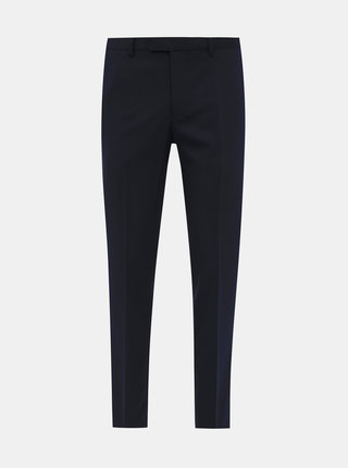 Tmavomodré oblekové slim fit nohavice Jack & Jones VIncent