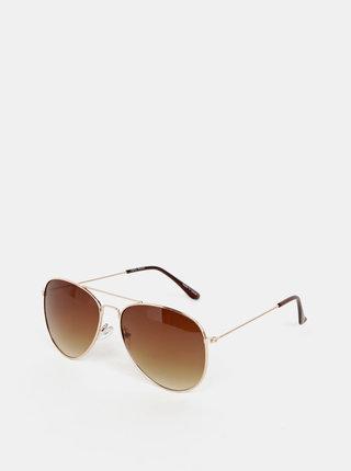 Slnečné okuliare v zlatej farbe VERO MODA Alma