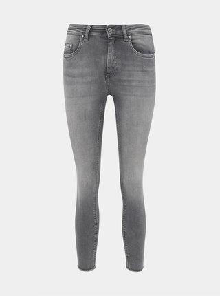 Šedé zkrácené skinny fit džíny ONLY Blush